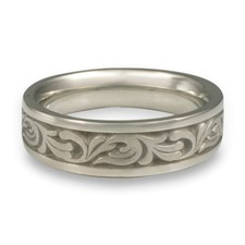Narrow Tradewinds Wedding Ring in Platinum