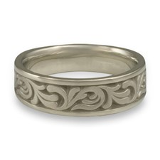 Wide Tradewinds Wedding Ring in 14K White Gold