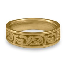 Wide Tradewinds Wedding Ring in 14K Yellow Gold