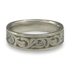 Wide Tradewinds Wedding Ring in Stainless Steel