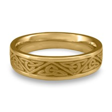 Narrow Trinity Knot Wedding Ring in 14K Yellow Gold