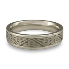 Narrow Trinity Knot Wedding Ring in Stainless Steel