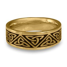 Wide Trinity Knot Wedding Ring in 14K Yellow Gold
