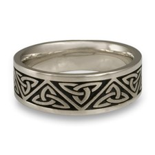 Wide Trinity Knot Wedding Ring in Stainless Steel