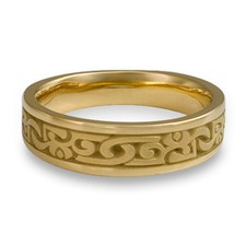 Narrow Luna Wedding Ring in 14K Yellow Gold