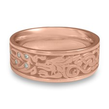 The Guardian Wedding Ring with Gems in 14K Rose Gold