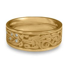The Guardian Wedding Ring with Gems in 14K Yellow Gold