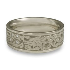 The Guardian Wedding Ring with Gems in Palladium