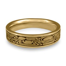Narrow Zen Garden Wedding Ring in 14K Yellow Gold
