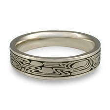 Narrow Zen Garden Wedding Ring in Platinum