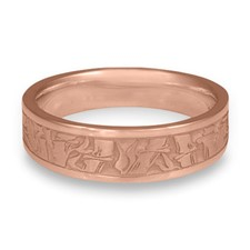 Narrow Bamboo Wedding Ring in 14K Rose Gold