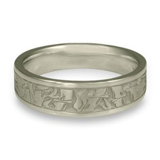 Narrow Bamboo Wedding Ring in Stainless Steel