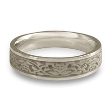 Narrow Morocco Wedding Ring in Platinum