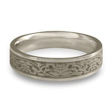 Narrow Morocco Wedding Ring in Stainless Steel