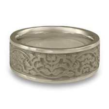 Wide Morocco Wedding Ring in 14K White Gold