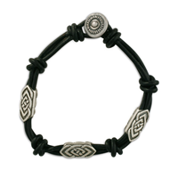Skyler Leather Bracelet in Sterling Silver