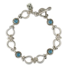 Andalusia Bracelet in Topaz: Swiss Blue