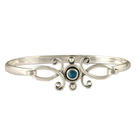 Viola Bracelet with Gem  in London Blue Topaz