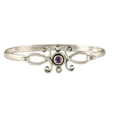 Viola Bracelet with Gem  in Amethyst
