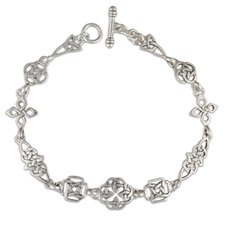 Celtic Link Bracelet in Sterling Silver