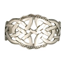 Celtic Cuff Bracelet in Sterling Silver