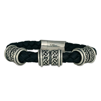 Shannon Leather Bracelet 8mm in Sterling Silver