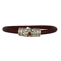 Ravena 5mm Leather Bracelet in Sterling Silver