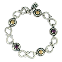 Seville Bracelet with Gems in Amethyst