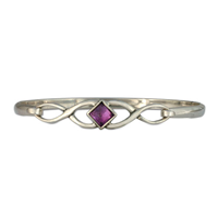 Twist Bracelet in Amethyst