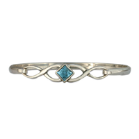 Twist Bracelet in Swiss Blue Topaz