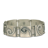 Industrial Swirl Bracelet Large in Sterling Silver