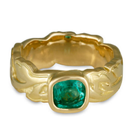 Flores Emerald Ring in 18K Yellow Gold