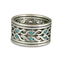 Double Rope Ring in 14K White Gold