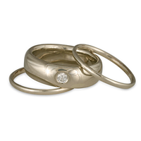 Simple Stacking Ring in 14K White Gold