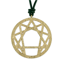 Annagram Pendant in 14K Yellow Gold