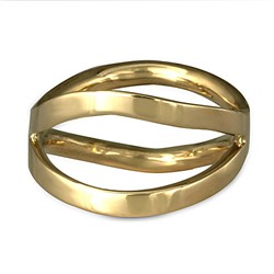 Criss Cross Orbit Ring in 18K Yellow Gold