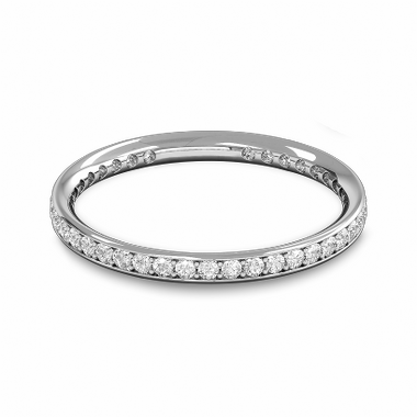 Fairtrade Gold Diamond Full Eternity Ring  in 18K White Gold