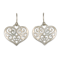 Collette s Heart Earring in Sterling Silver