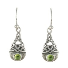 Blue Moon Earrings in Peridot