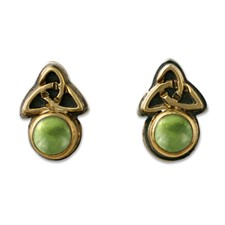 Aria Round Earrings in Peridot