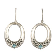 Trinity Hoop Earrings in Sterling Silver