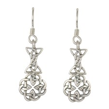 Basket Aria Drop Earrings in Sterling Silver