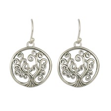 Tree of Life Earrings in Sterling Silver