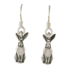 Hare Earrings  in Sterling Silver