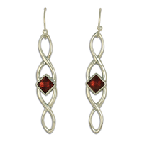 Twist Earrings Long in Sterling Silver