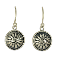 Sunflower Earrings in Sterling Silver