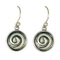 Swirl Earrings in Sterling Silver