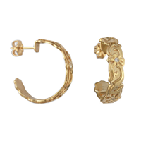 Persephone Gold Hoop with Gems in 14K Yellow Gold