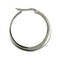 Hoop Earrings 30mm in Sterling Silver
