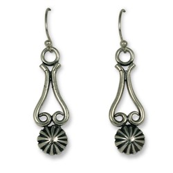 Button Passion Earrings in Sterling Silver
